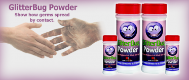 GlitterBug Powder - Show how germs spread by contact